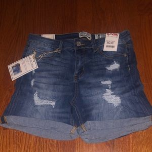 Mid rise jean shorts NEW